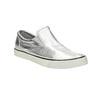 Silver leather slip-ons diesel, silver , 504-1437 - 13