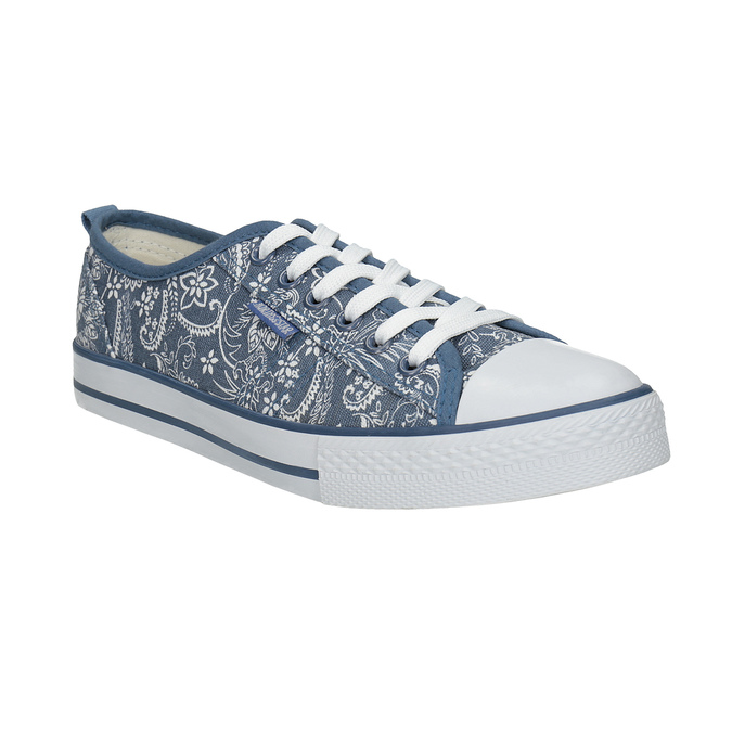 Ladies' patterned sneakers north-star, blue , 589-9445 - 13