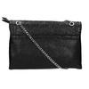 Small black handbag with flap bata, black , 961-6731 - 19
