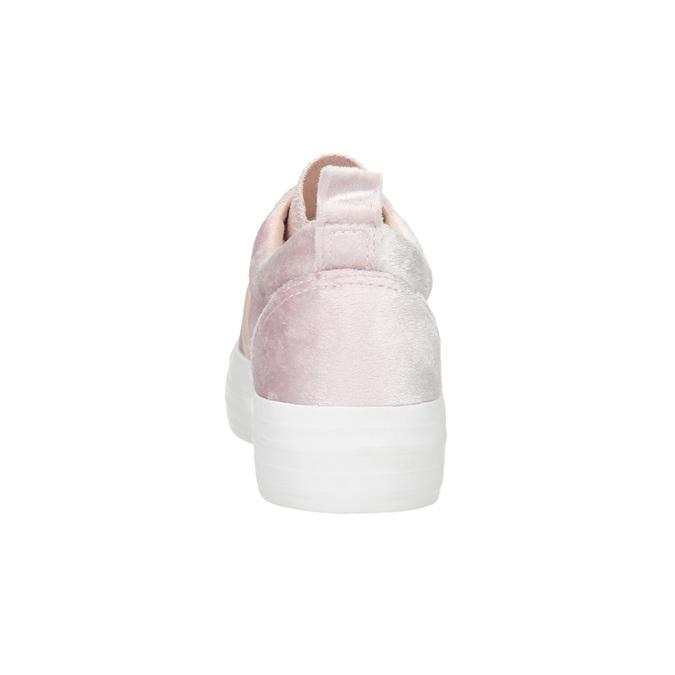 Pink velvet slip-ons north-star, pink , 519-5604 - 17