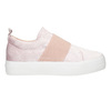 Pink velvet slip-ons north-star, pink , 519-5604 - 15