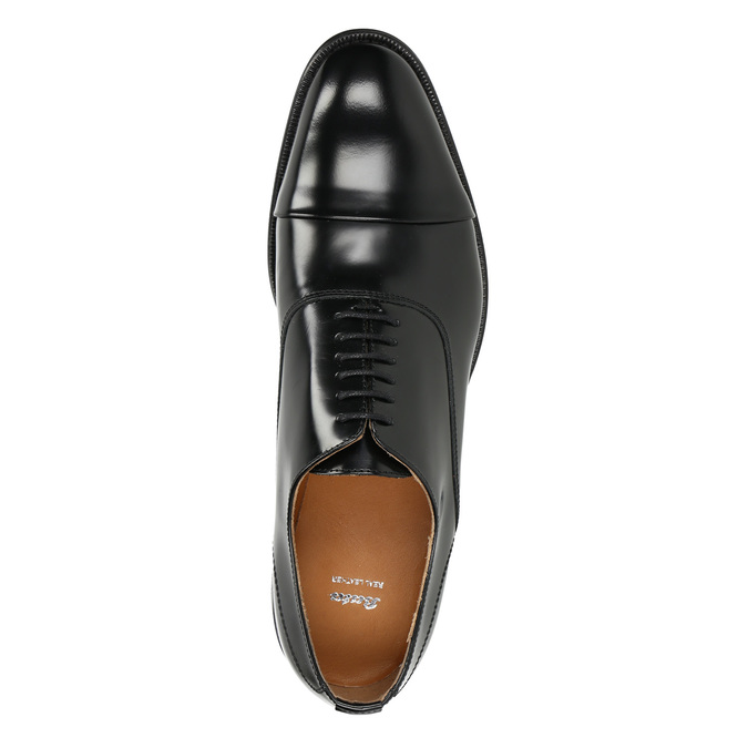 Black leather Oxford shoes bata, black , 826-6671 - 15
