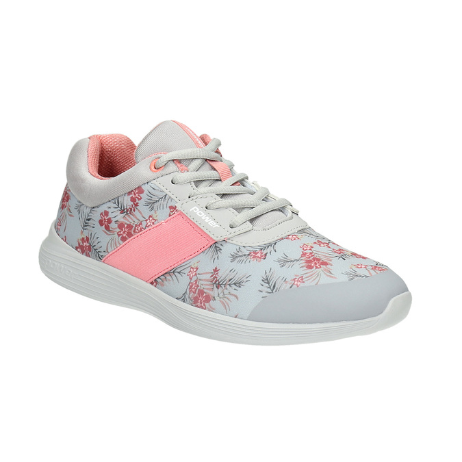 Sneakers with a floral pattern power, gray , 509-2203 - 13
