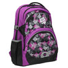 School backpack with print bagmaster, violet , 969-5656 - 13