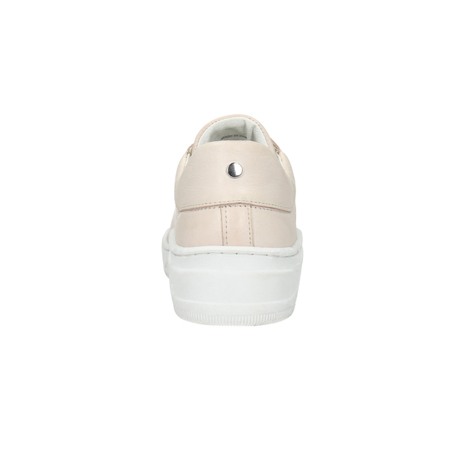 Ladies' leather sneakers bata, pink , 526-5641 - 17