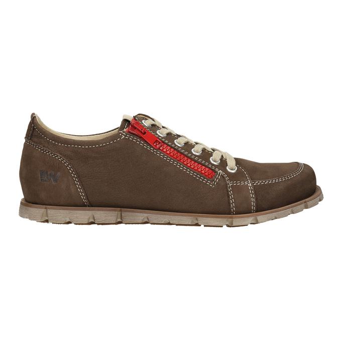 Ladies' leather sneakers weinbrenner, brown , 546-4604 - 26