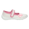 Kids' slippers with a bow mini-b, white , 379-1214 - 15