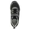 Girl's sneakers with small rhinestones mini-b, black , 329-6295 - 26