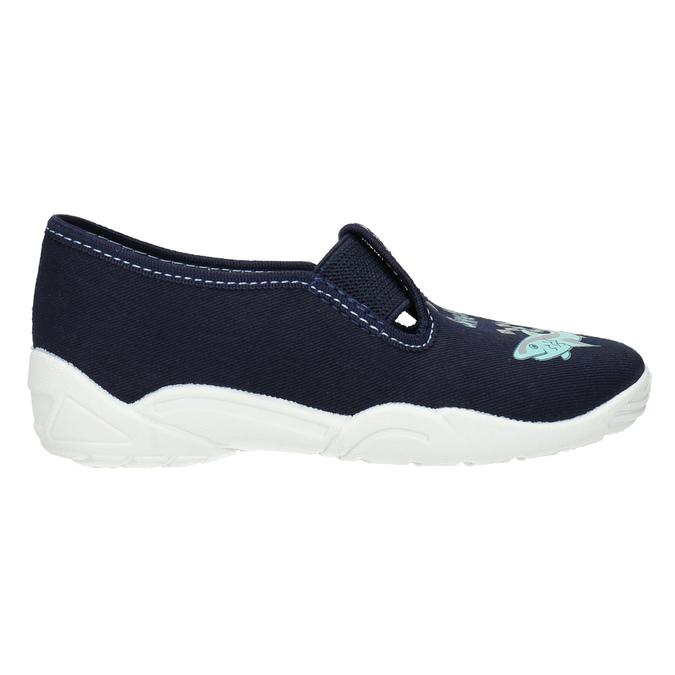 Kids' slippers with a shark mini-b, blue , 379-9213 - 15