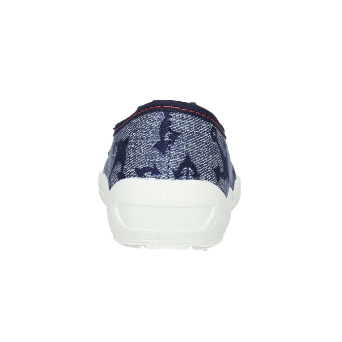 Kids' slippers with an anchor mini-b, blue , 379-2213 - 17