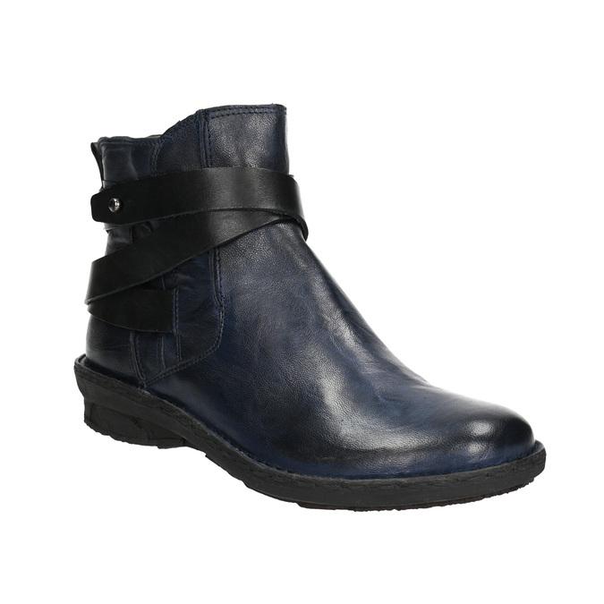 Ladies' leather high boots bata, blue , 596-9657 - 13