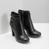 Ankle boots with metal studs bata, black , 791-6665 - 26