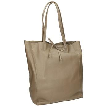 Ladies' leather handbag with bow bata, beige , 964-2122 - 13