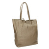 Ladies' leather handbag with bow bata, beige , 964-2122 - 13