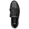 Ladies' leather slip-ons bata, black , 516-6614 - 26