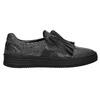 Ladies' leather slip-ons bata, black , 516-6614 - 15