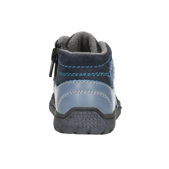Boys' leather shoes bubblegummer, blue , 113-9601 - 17