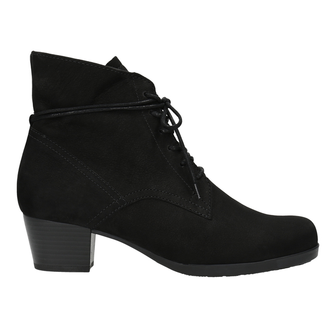 Ladies' High Boots with Sturdy Heel gabor, black , 626-6009 - 26