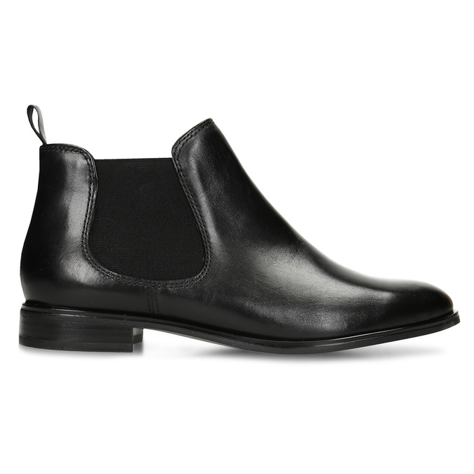 Black leather Chelsea style boots, black , 594-6635 - 19