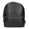 Black leather backpack, black , 964-6240 - 26