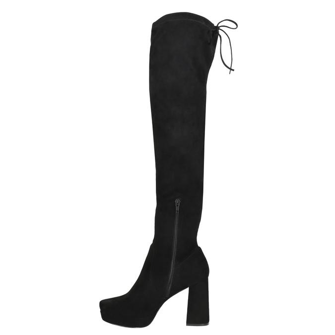 Ladies' black over-knee high boots bata, black , 799-6663 - 26