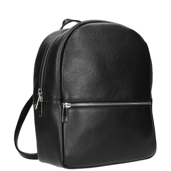 Black leather backpack bata, black , 964-6240 - 13