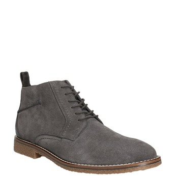 Men's leather ankle boots bata, gray , 823-2615 - 13
