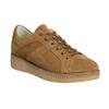 Brown leather sneakers bata, brown , 523-8604 - 13