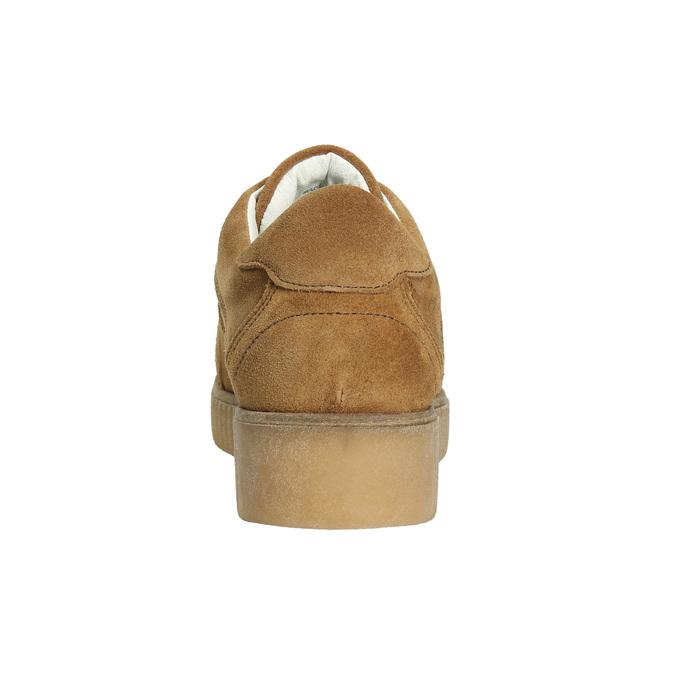 Brown leather sneakers bata, brown , 523-8604 - 17