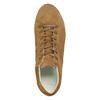 Brown leather sneakers bata, brown , 523-8604 - 26