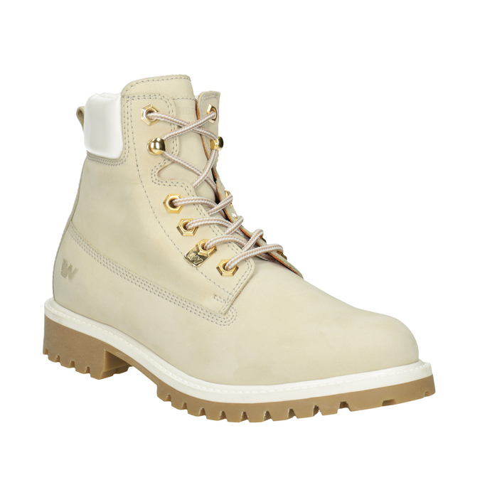 Ladies' Leather Ankle Boots weinbrenner, beige , 596-1667 - 13