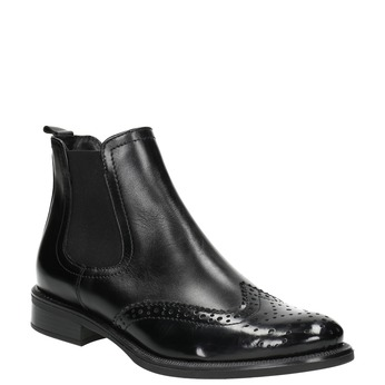 Ladies' Chelsea style leather boots bata, black , 594-6638 - 13