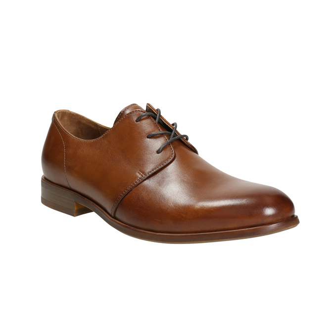Leather dress shoes bata, brown , 826-3680 - 13
