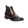 Chelsea style leather boots bata, red , 594-5638 - 13