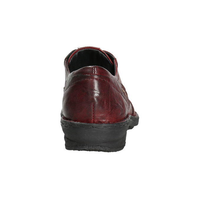 Ladies' leather shoes bata, red , 526-5640 - 17