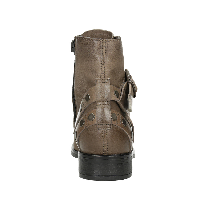 Ladies' Ankle Boots with Buckles bata, brown , 596-4661 - 16