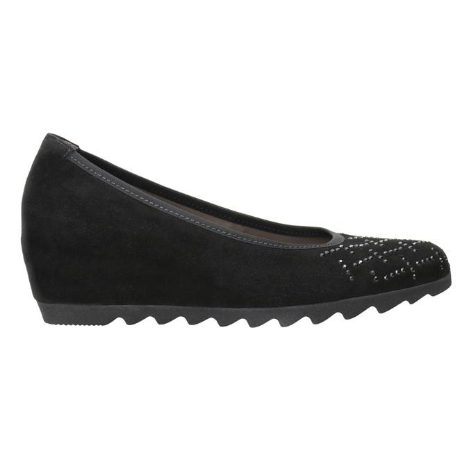 Ladies' Ballet Wedge Pumps gabor, black , 623-6027 - 26