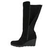 Ladies' High Wedge Boots bata, black , 796-6645 - 26
