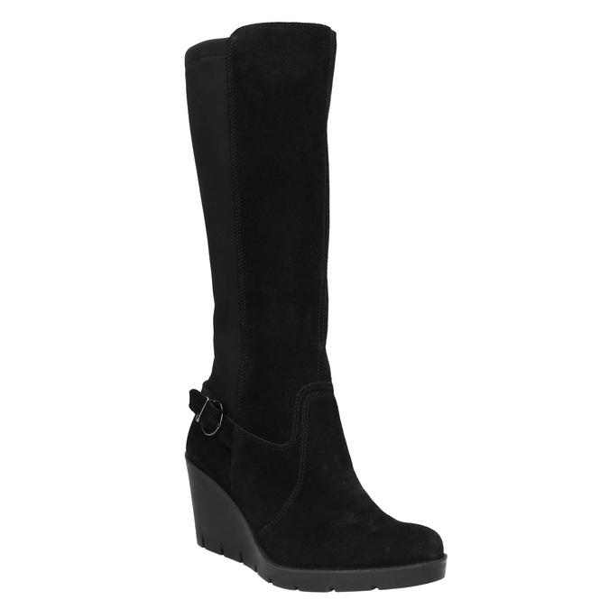 Ladies' High Wedge Boots bata, black , 796-6645 - 13