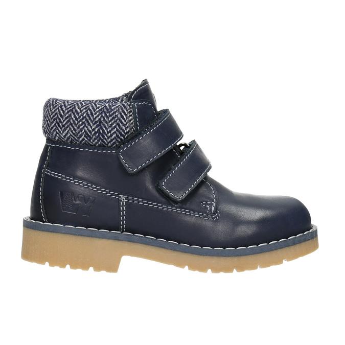 Children's leather ankle boots weinbrenner-junior, blue , 216-9200 - 26