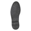 Men's leather Derby shoes bata, black , 824-6926 - 19