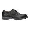 Men's leather Derby shoes bata, black , 824-6926 - 15