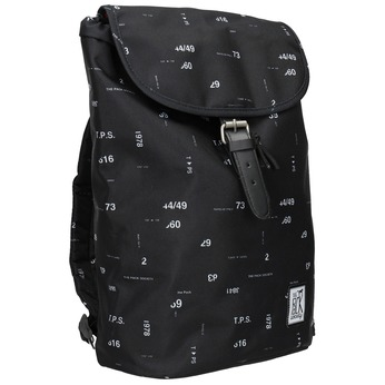 Unisex Backpack with Print, black , 969-6080 - 13