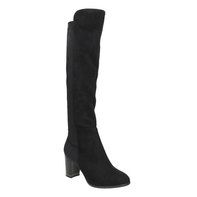 High boots with elastic parts bata, black , 699-6635 - 13