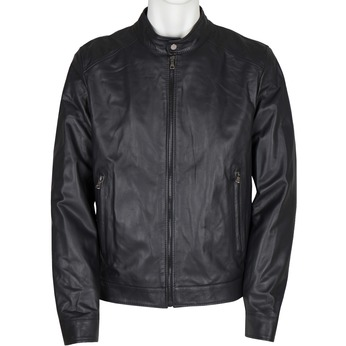 Men's Leather Jacket bata, black , 974-6154 - 13