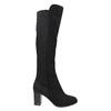 High boots with elastic parts bata, black , 699-6635 - 15