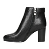 Ankle boots with heels bata, black , 691-6634 - 19