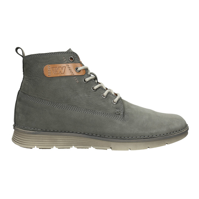 Men's leather ankle boots weinbrenner, gray , 846-2656 - 26