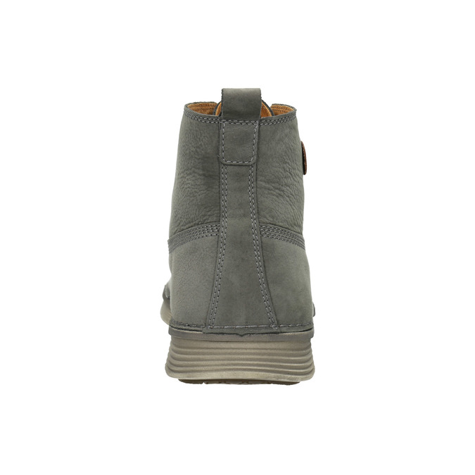 Men's leather ankle boots weinbrenner, gray , 846-2656 - 16