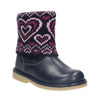 Girls' Leather Boots with Knit Jumper mini-b, blue , 294-9201 - 13